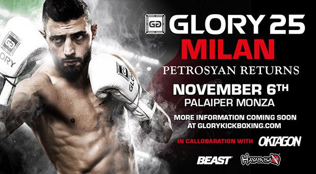 Josh Jauncey vs. Giorgio Petrosyan Tops GLORY 25 Milan on Nov. 6