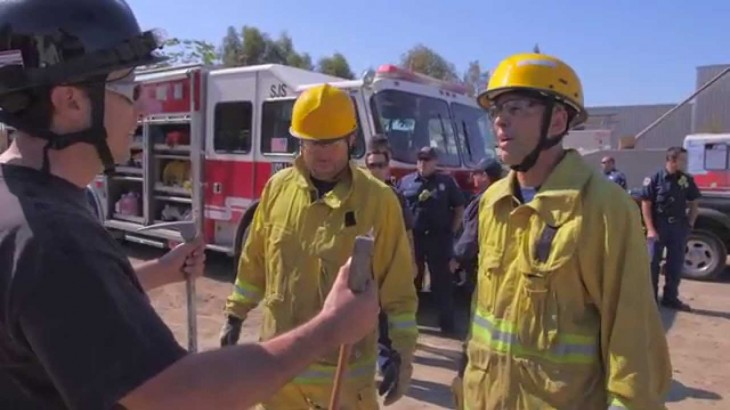 Video – Bellator MMA: Randy Couture, Royce Gracie Visit San Jose Fire Dept.
