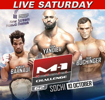 M-1 Challenge 62 LIVE Saturday at 12:30 p.m. ET on Fight Network