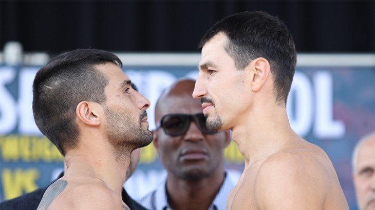 Lucas Matthysse vs. Viktor Postol Weigh-in Results & Photos