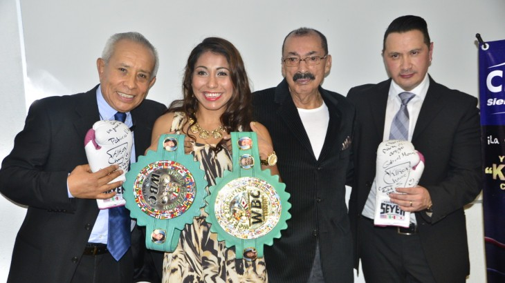 WBC Female Champ 'Kika' Chavez Saluted By Her Sponsors