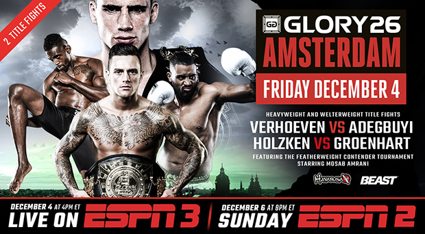 GLORY Returns to ESPN3; GLORY 26 Amsterdam Airs on Dec. 4
