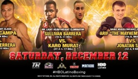 Barrera, Magomedov to Headline HBO Latino Card on Dec. 12 in Glendale, CA.