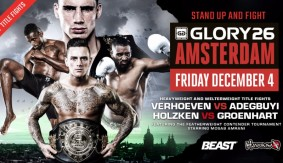Two Title Fights Official for GLORY 26 Amsterdam on Dec. 4