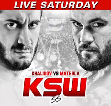 KSW 33: Khalidov vs. Materla LIVE Saturday at 2 p.m. ET on Fight Network
