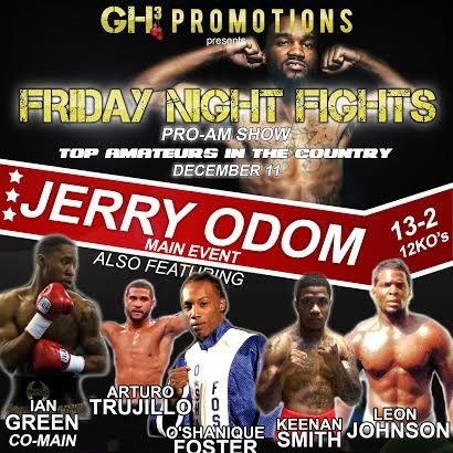 Jerry Odom vs. Michael Mitchell Set for Dec. 11 Bout in New Jersey