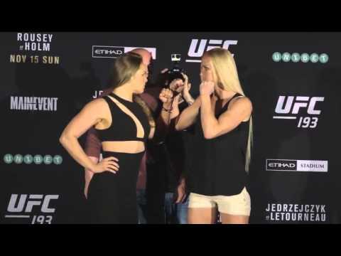 Video – UFC 193: Media Day Face-offs