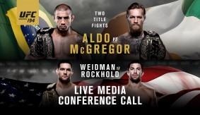 Video – UFC 194: Aldo vs. McGregor Media Conference Call