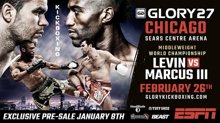 Levin vs. Marcus 3 Headlines GLORY 27 Chicago on Feb. 27