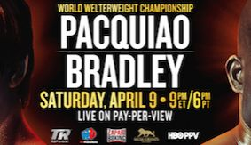 Pacquiao vs. Bradley PPV Undercard Features 3 Title Fights
