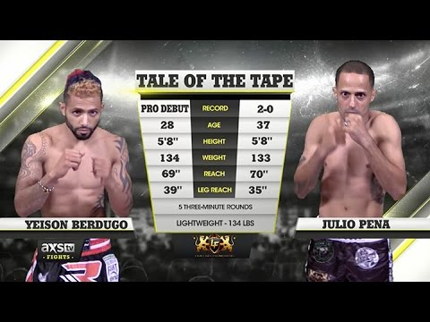 Video – AXS TV Fights: 2015 Fight of the Year: Pena vs. Berdugo at Lion Fight 24