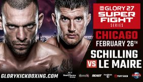 Schilling vs. Lemaire Headlines GLORY SuperFight Series Chicago on Feb. 26