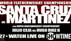 Hunter, Mendez, Marrero Featured in Santa Cruz-Martinez Undercard
