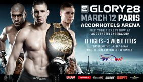 GLORY 28 Paris Set for March 12 with 3 Title Fights