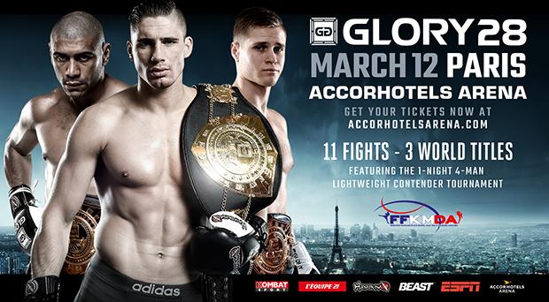 GLORY 28 Paris & SuperFight Series Cards Finalized