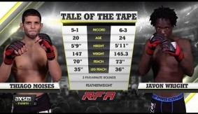 Video – AXS TV Fight of the Week: Thiago Moises vs. Javon Wright at RFA 28