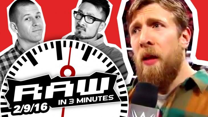 WWE RAW in 3MIN 2/9/16: Daniel Bryan Retires