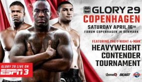 Londt, Braddock, Wilnis Added to GLORY 29 Copenhagen Heavyweight Tournament on April 16