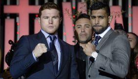 March 2,2016. Studio City CA. boxing PC Canelo vs Khan (Photo by Gene Blevins/Hogan Photos)