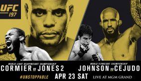 MMA_Poster_UFC197_JonJones_DanielCormier_DemetriousJohnson_HenryCejudo
