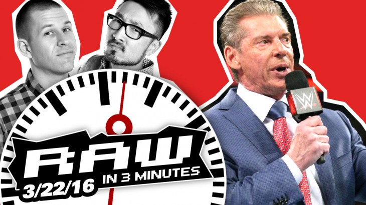 Vince McMahon Makes a Special Announcement | WWE RAW in 3MIN 3/22/16