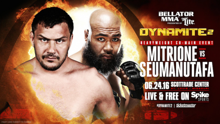 Mitrione Makes Promotional Debut at Bellator 157: Dynamite 2 on June 24