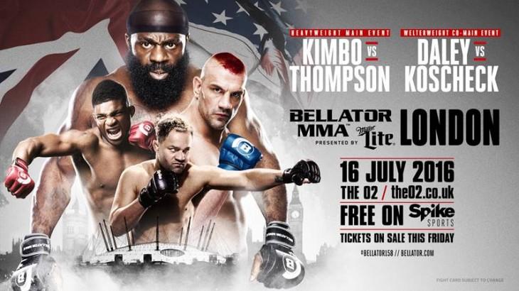 Kimbo vs. Thompson, Koscheck vs. Daley set for Bellator 158 on July 16 in London