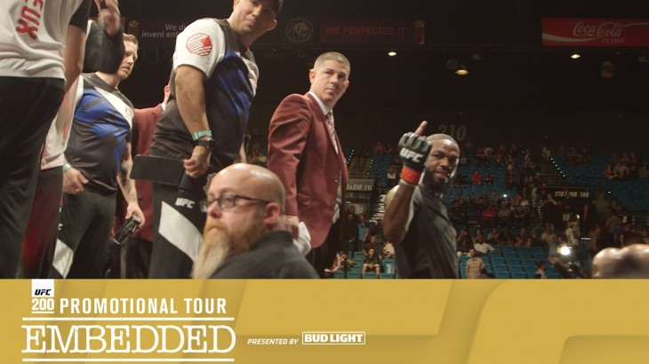 UFC 200 Promo Tour Embedded: Vlog Series Episode 1 – Julio Cesar Chavez Snubs Travis Browne; Rousey Shows Love