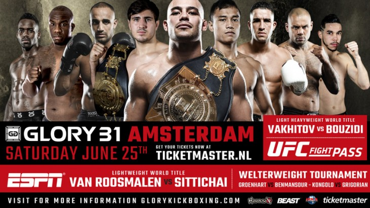 Ismael Londt vs. Hesdy Gerges & Welterweight Tournament Added to GLORY 31 Amsterdam on June 25