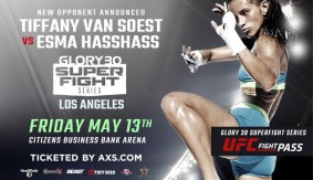 Tiffany van Soest vs. Esma Hasshass Added to GLORY 30 SuperFight Series on May 13