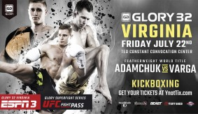 Serhiy Adamchuk vs. Gabriel Varga Rematch for GLORY Featherweight Title at GLORY 32 Virginia