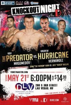 Boxing_Poster_KnockoutNightatTheD_ArifMagomedov_AndrewHernandez_2016_052116