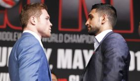 "Canelo vs. Khan Final Presser Video Recap, Quotes & Photos – ""This Could Be the Last Fight Between Canelo and I Here in Vegas if Donald Trump is Elected President"""