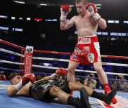 Full Report & Photos – Canelo Alvarez Knocks Out Amir Khan Cold in 6 Rounds at HBO PPV