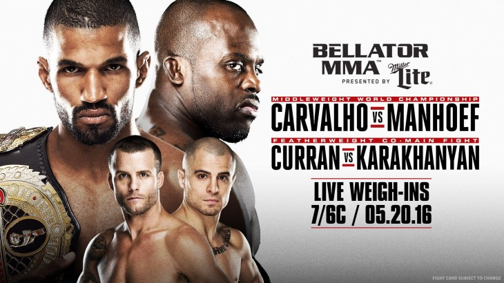 Bellator 155 Weigh-in Results, Video Replay & Photos – Intense Staredowns for Carvalho-Manhoef, Coenen-Dufresne