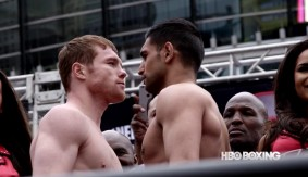 HBO PPV: Canelo Alvarez vs. Amir Khan Weigh-in Results, Video Replay & Photos