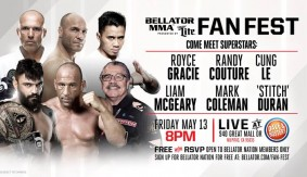Gracie, Couture, Le, McGeary, Coleman & Stitch Added to 'Bellator MMA Fan Fest' May 13 in San Jose