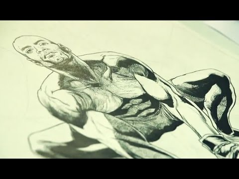 "Making of ""The Spider"" Comic Book Featuring Anderson Silva by Illustrator Renato Guedes"
