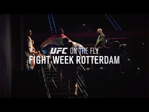 """The Fighters Take in the Sights on the Way to the UFC Fight Night Rotterdam Weigh-ins in """"On The Fly"""""""