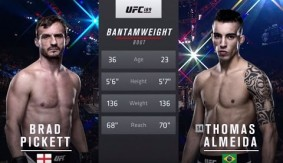 Thomas Almeida Goes Back-And-Forth with Brad Pickett at UFC 189 – Full Fight