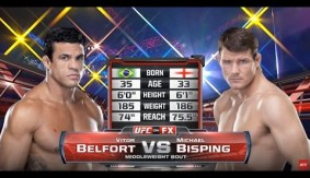 UFC 198 Free Fight: Vitor Belfort Head Kicks Michael Bisping