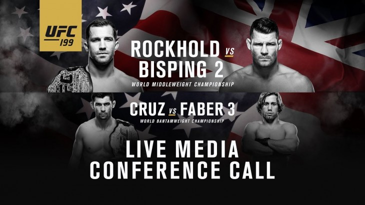 UFC 199: Rockhold vs. Bisping 2 Media Conference Call Replay