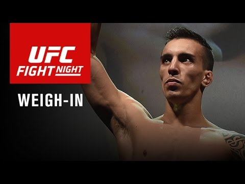 UFC Fight Night Las Vegas: Official Weigh-in Video Replay – Jeremy Stephens Shoves Renan Barao