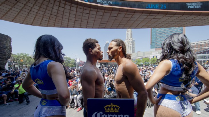 Keith Thurman vs. Shawn Porter Official Weigh-in Results & Photos