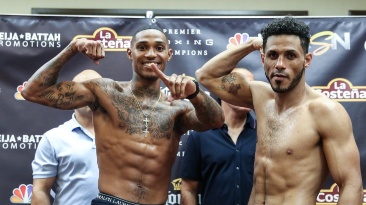 PBC on NBCSN: DeLoach vs. Castillo Weigh-in Results & Photos