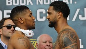 Anthony Joshua vs. Dominic Breazeale Weigh-in Results & Photos Ahead of IBF Heavyweight Title Clash