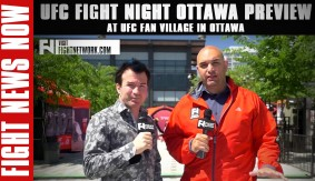 Fight News Now at UFC Fan Village Ahead of UFC Fight Night Ottawa
