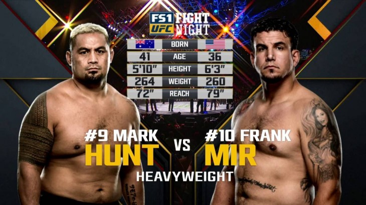 Full Fight – Mark Hunt vs. Frank Mir from UFC Fight Night Brisbane