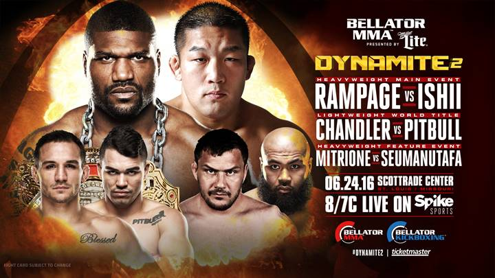 Michael Chandler vs. Patricky Pitbull Vacant Lightweight Title Bout Added to Bellator: Dynamite 2 on June 24 | Fight Network
