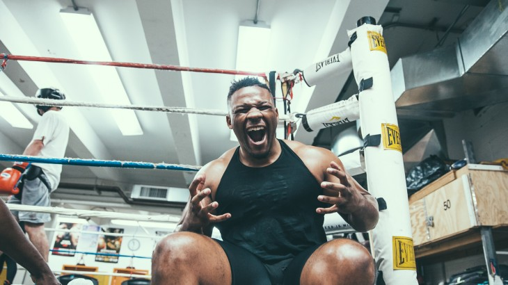 Jarrell Miller & Bakhtiyar Eyubov Media Workout Quotes & Photos